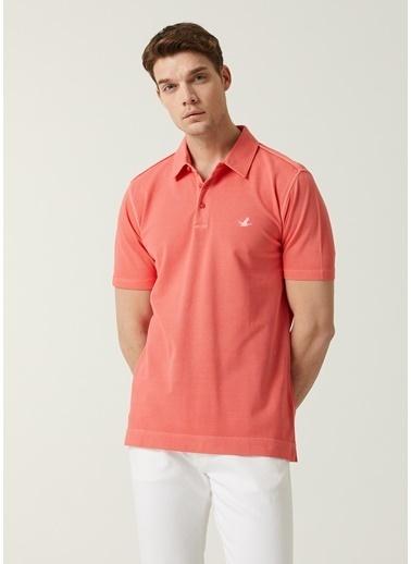 Beymen Club Beymen Club 101589594 Polo Yaka Kısa Kol Comfort Fit Yakası Düğme Kapatmalı Logo Işlemeli Mercan Erkek Tişört Mercan